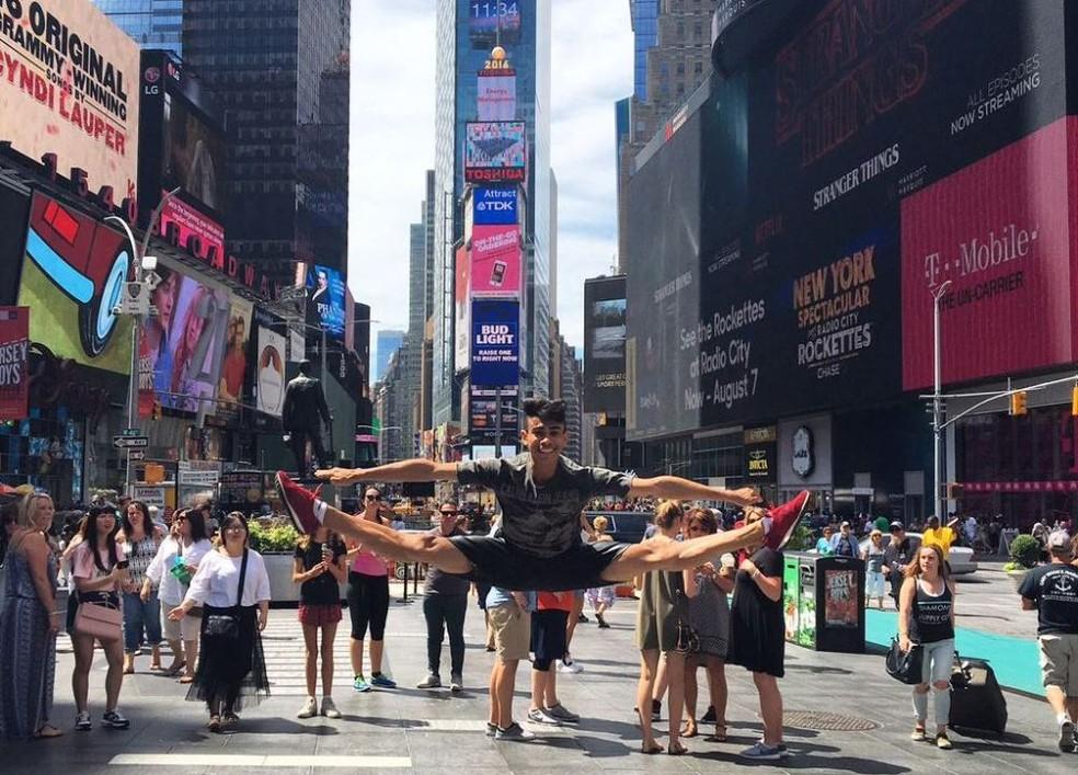 Maicon Cardoso está nos Estados Unidos desde o mês passasdo (Foto: Divulgação)