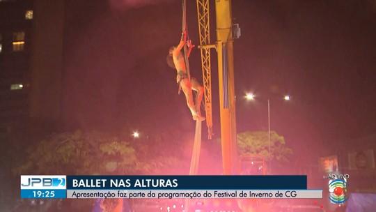 Espetáculo de Ballet aéreo é realizado em Campina Grande