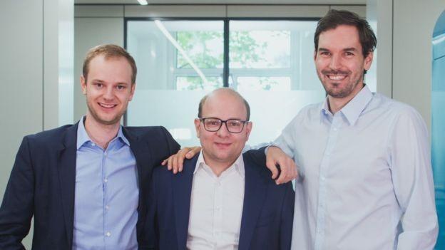 Alexander, Bastian Nominacher e Martin Klenk se conheceram na universidade (Foto: CELONIS via BBC News Brasil)