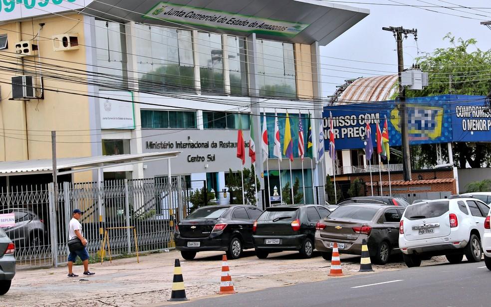Prédio da Junta Comercial do Estado do Amazonas (Jucea), em Manaus (Foto: Suelen Gonçalves)