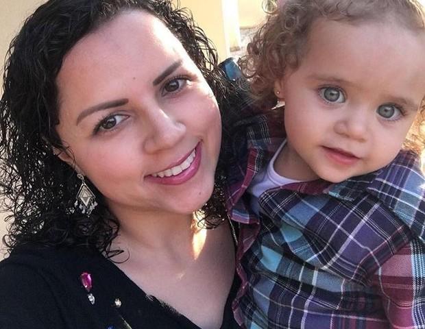 Dayane com a filha, Maria Liz, de 2 anos e 4 meses (Foto: Arquivo Pessoal)