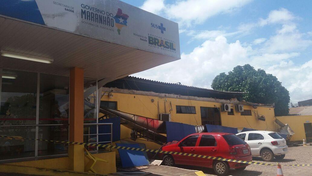 Estrutura de Unidade de Pronto Atendimento desaba em São Luís