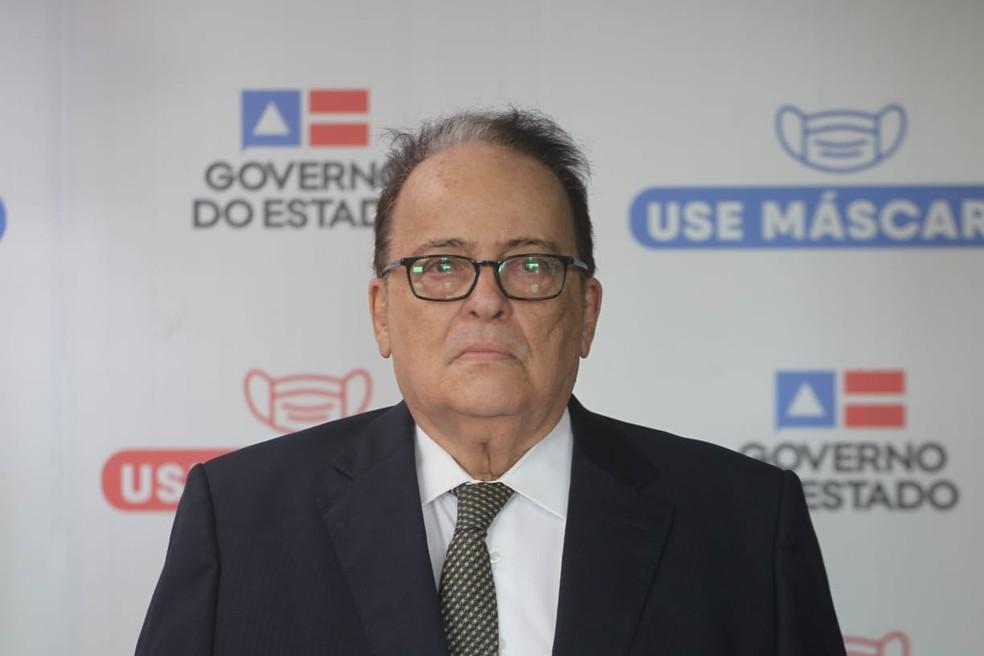 Rui Costa anunciou o juiz federal Ricardo César Mandarino, como novo secretário da SSP-BA. — Foto: Elói Corrêa/ GOVBA