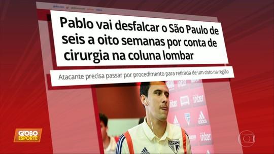Pablo vai desfalcar o São Paulo de seis a oito semanas por conta de cirurgia na coluna lombar