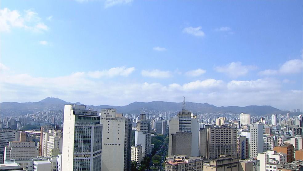 Tempo em Belo Horizonte nesta segunda-feira (16) — Foto: Reprodução/TV Globo