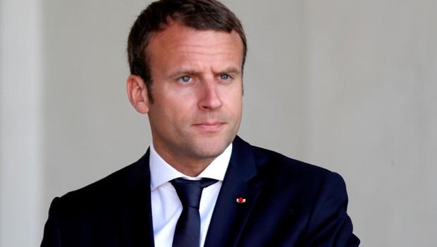 Presidente da França, Emmanuel Macron, no Palácio do Eliseu em Paris (Foto: Charles Platiau/Reuters)