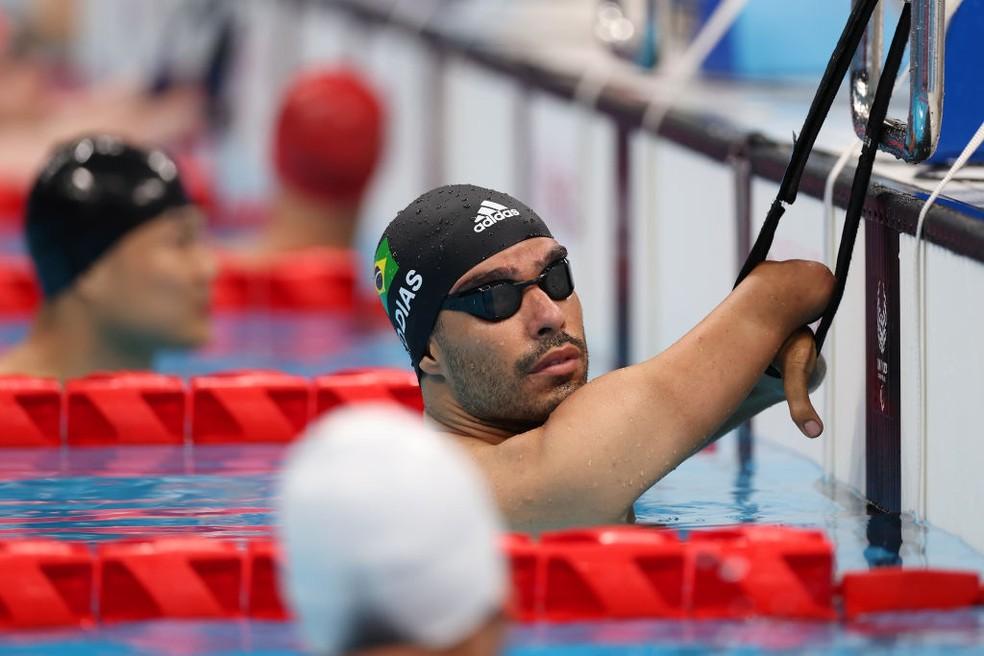 Daniel Dias antes da final dos 50m costas S5 — Foto: Lintao Zhang/Getty Images