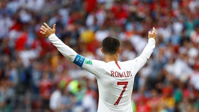 Cristiano Ronaldo comemora vitória de Portugal sobre Marrocos