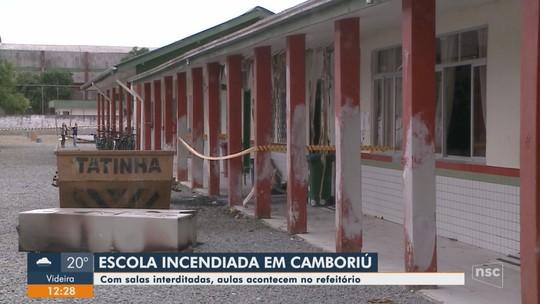 Após incêndio, mais de mil alunos de escola de Camboriú têm aulas em espaços improvisados