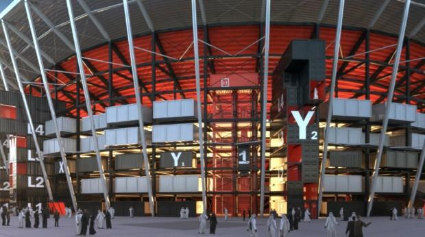 Copa do Mundo 2022: Estádio tem contêineres em sua estrutura (Foto: Divulgação )