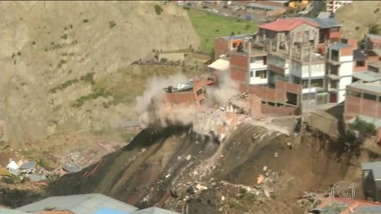 Quase 70 casas desabam na Bolívia