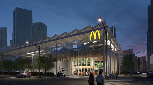 Nova unidade do McDonald's em Chicago (Foto: Divulgação)