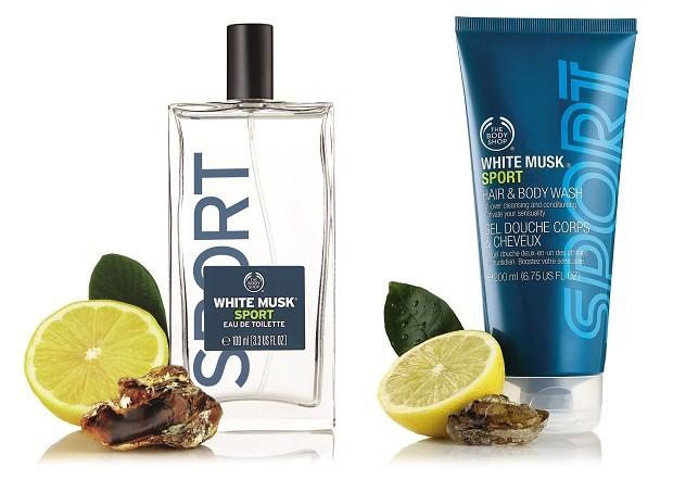 Kit The Body Shop | A linha White Musk Night Bloom, composta por fragrância (100ml) e body wash (70ml) é o lançamento da marca para o Dia dos Pais. Com toque cítrico e fresco de toranja e limão e notas aromáticas de âmbar | Da The Body Shop, Eau de Toilette R$159,00; Shower gel para corpo e cabelo R$ 70.  (Foto: Divulgação)