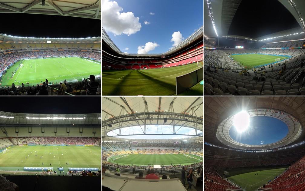 Estádios da Copa do Mundo com suspeita de irregularidades  (Foto: Secom/Pernambuco Press/GloboEsporte)