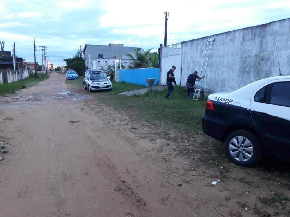Polícia Civil cumpriu mandado de prisão contra o suspeito — Foto: Divulgação/Polícia Civil