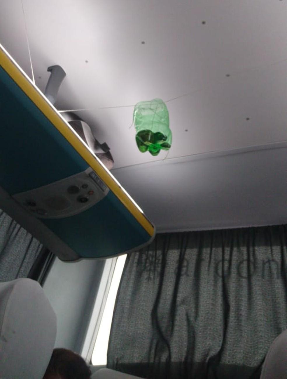 Gasolina dentro de ônibus sequestrado na Ponte Rio-Niterói â?? Foto: Arquivo pessoal