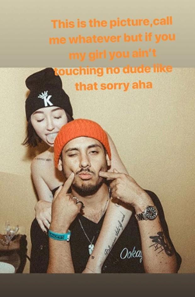 Noah Cyrus e Ookay (Foto: Reprodução/Instagram)