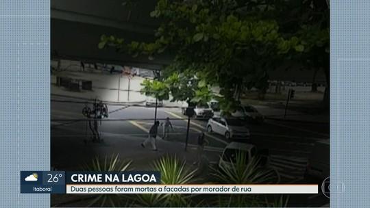 Duas pessoas morrem esfaqueadas por um morador de rua, na Lagoa