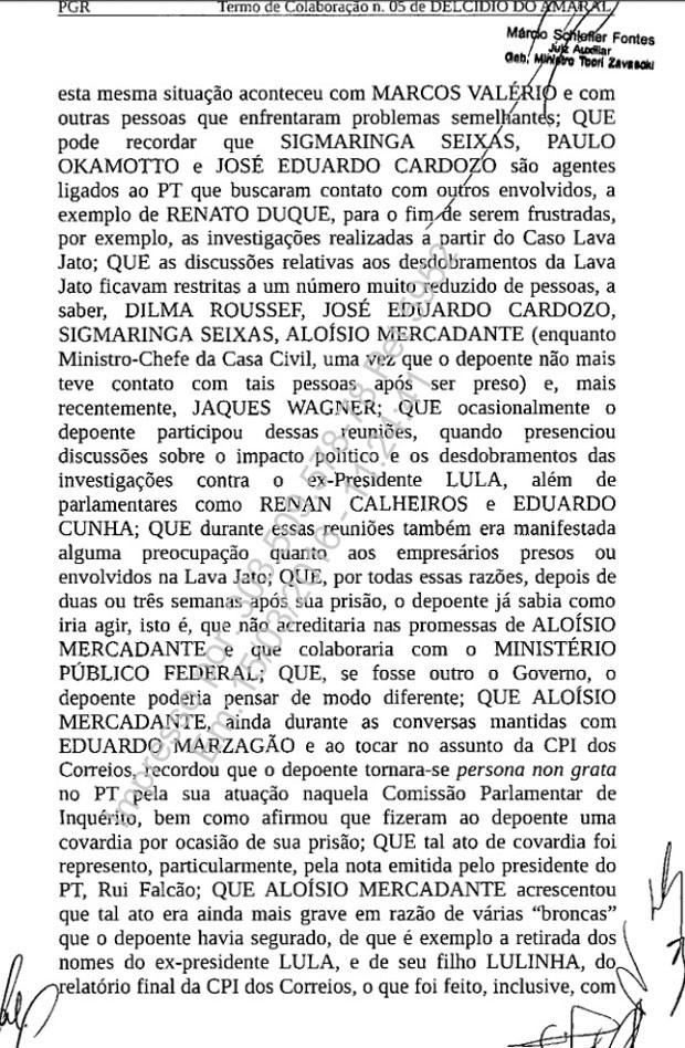 Termo de colaboração assinado por Delcídio pg. 5 (Foto: Reprodução)