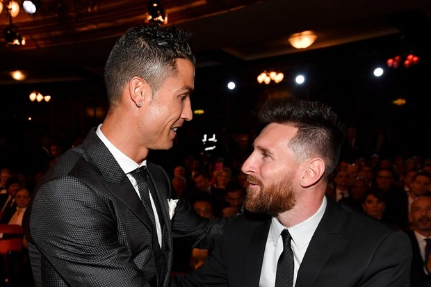 Messi e Cristiano Ronaldo (Foto: Getty Images)