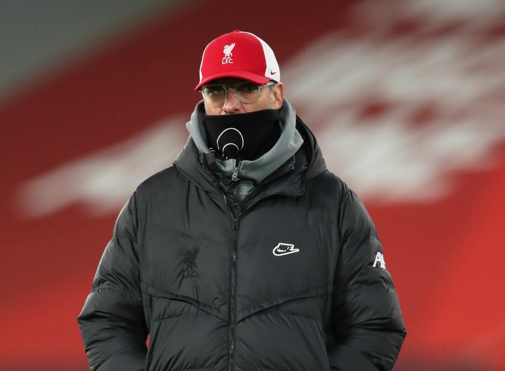 Klopp, treinador do Liverpool — Foto: REUTERS/Clive Brunskill