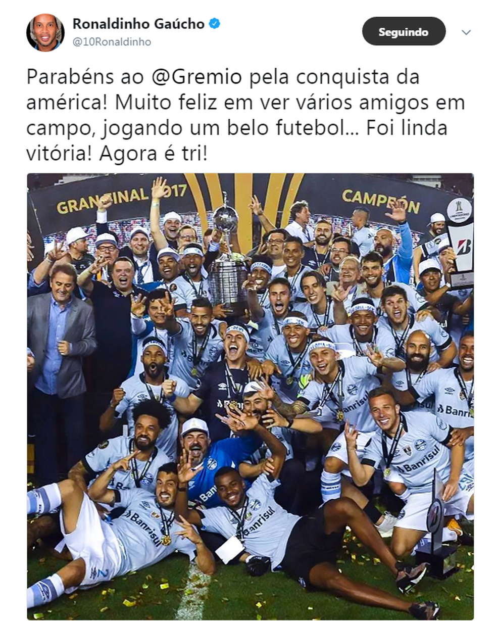 Ronaldinho Gaúcho (Foto: Reprodução/Twitter)