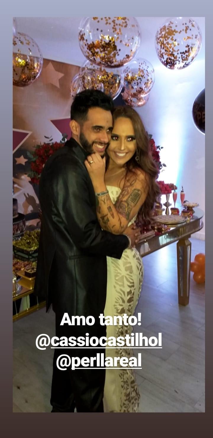 Perlla com Cássio Castilhol  (Foto: Reprodução)