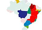 Veja quem ficou em 1º lugar em cada município (Editoria de Arte/G1)