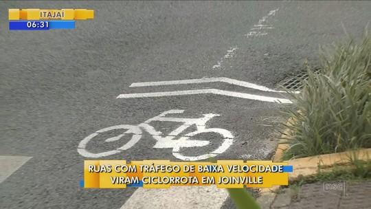 Quatro ruas do Centro de Joinville são convertidas em ciclorrota