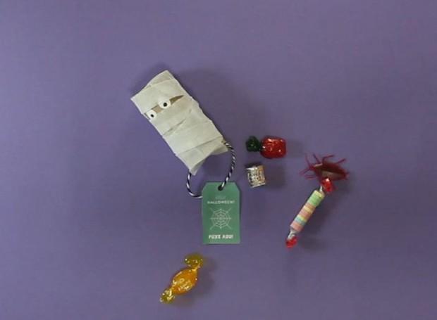 Especial Halloween: porta doces de fantasminha  (Foto: Casa e Jardim)