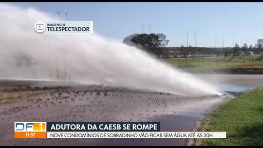 Adutora se rompe e condomínios de Sobradinho ficam sem água
