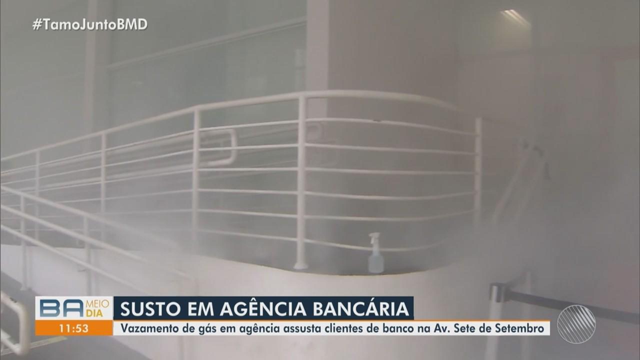 Vazamento de gás assusta clientes em agência bancária na capital baiana