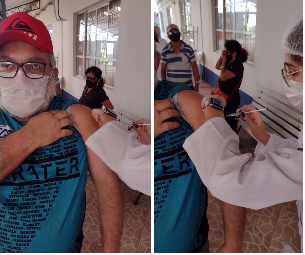 Professor é vacinado por ex-aluna em Porto Velho: 'Foi muito emocionante para mim'