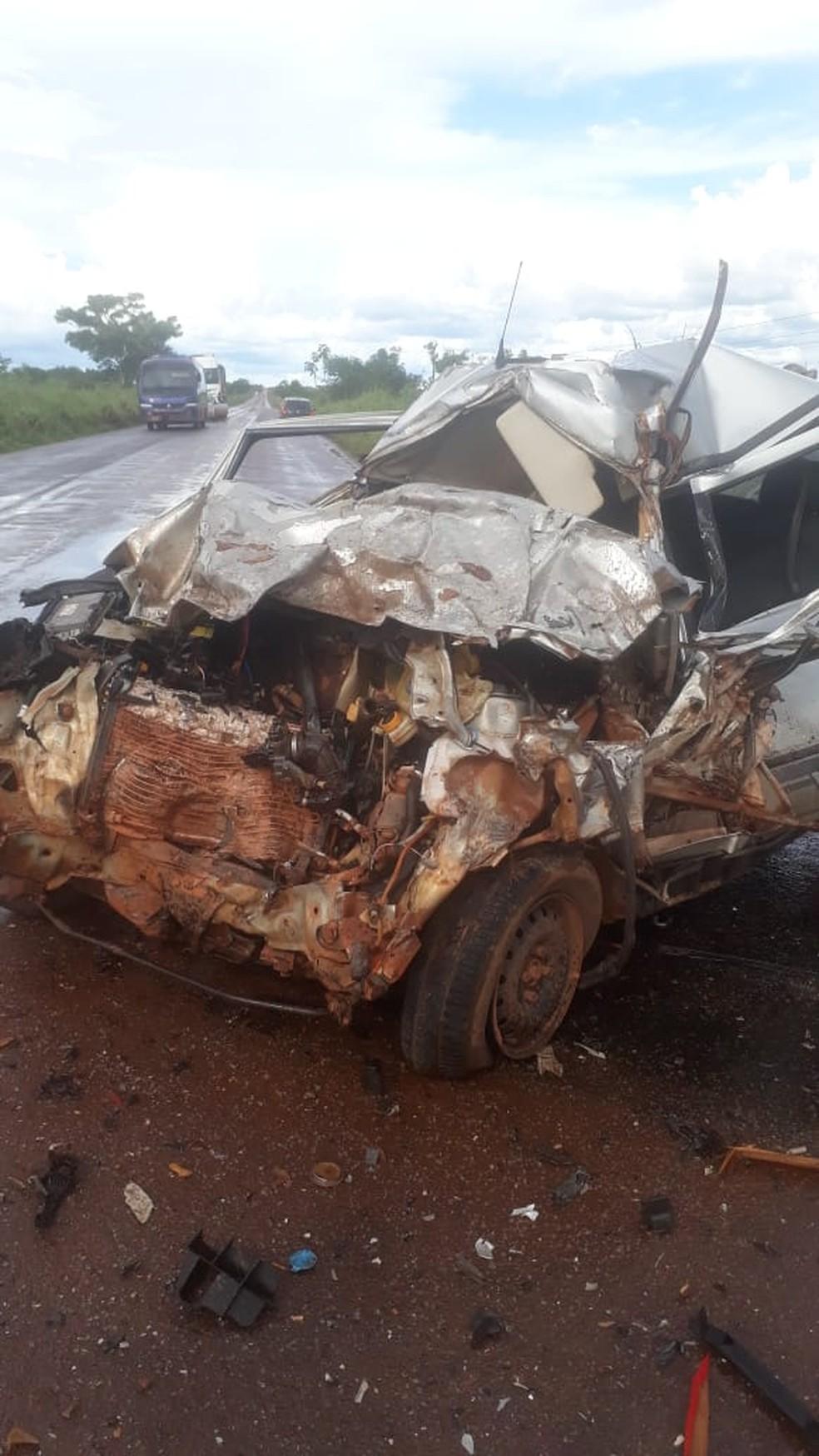 Dois homens morreram nessa terça-feira (17) em um acidente na MT-437, região de Confresa (MT) — Foto: Agência da Notícia