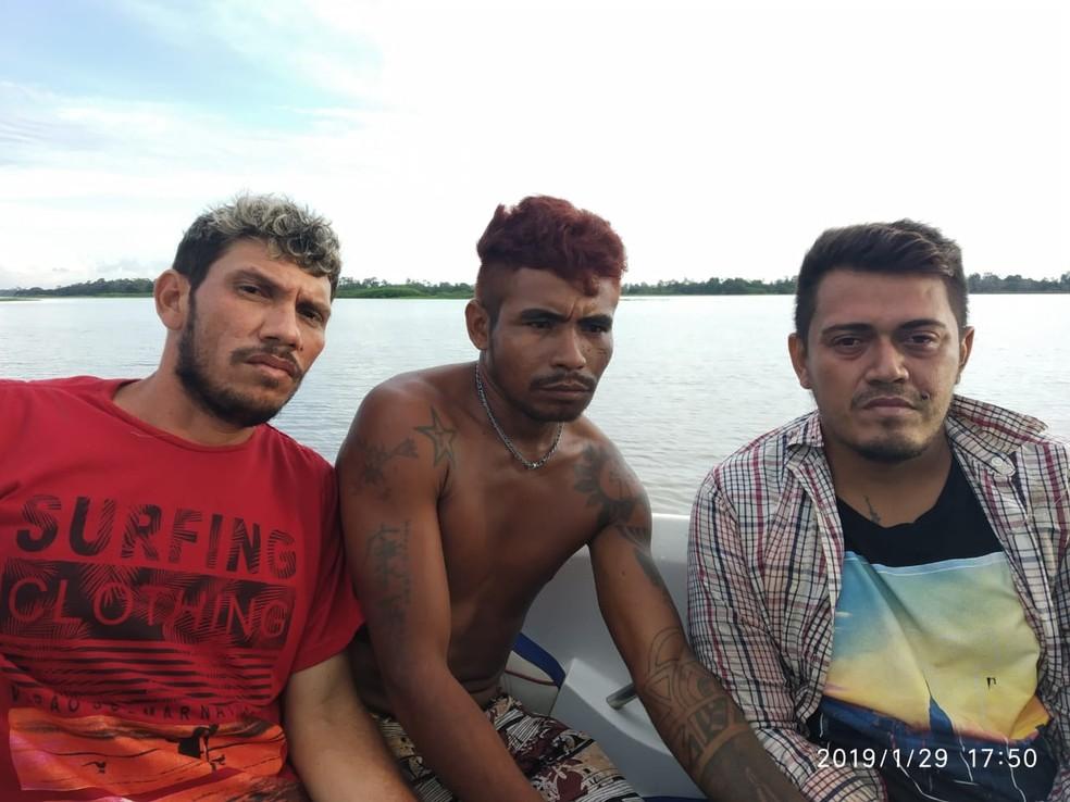 Homens que fugiram da delegacia de Alenquer são recapturados em comunidade — Foto: Polícia Civil de Alenquer