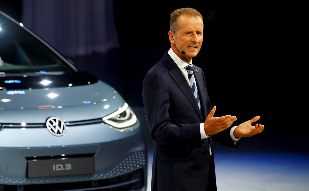 Presidente da Volkswagen, Herbert Diess — Foto: Reuters/Ralph Orlowski