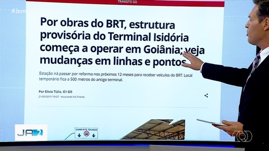 Estrutura provisória do Terminal Isidória começa a operar em Goiânia; veja mudanças