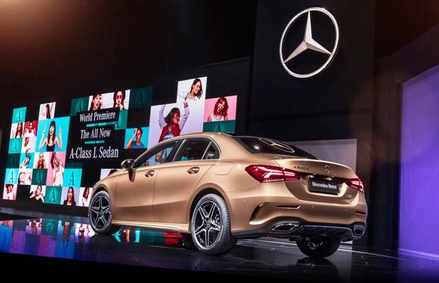 Mercedes Classe A Sedan é apresentado no Salão de Pequim 2018 (Foto: Divulgação)