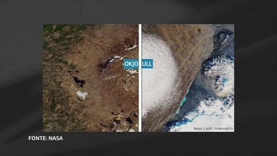 """Islândia declara """"morte"""" de geleira de 700 anos"""