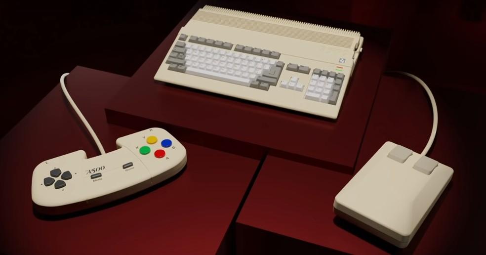 A500 Mini é a nova versão do clássico dos anos 80 — Foto: Reprodução/Retro Games