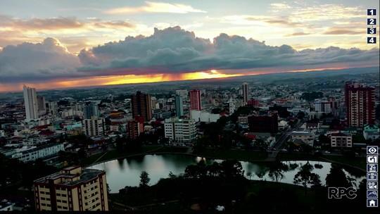 Telespectadores registram o tempo na região de Guarapuava