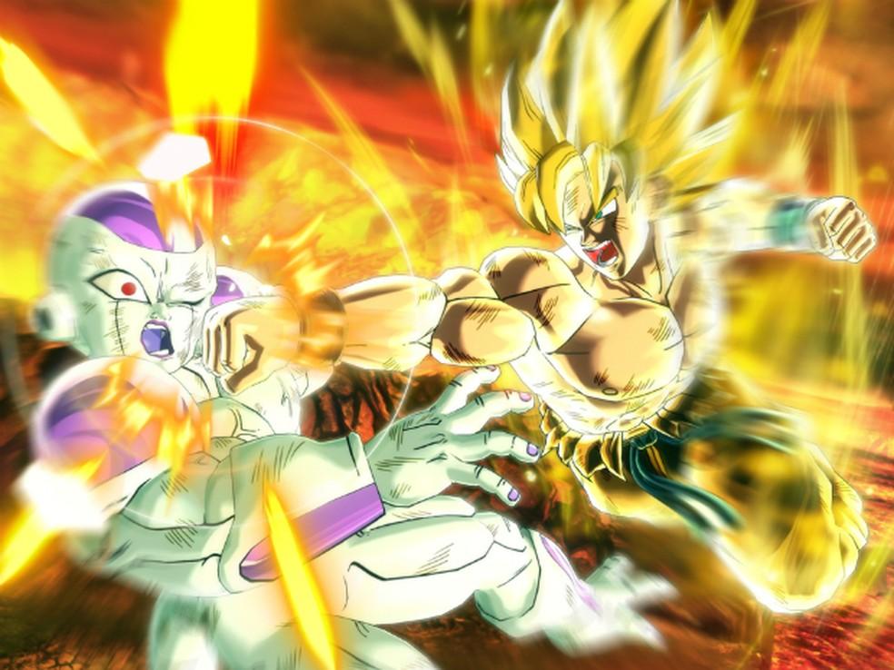 Goku e vilão Freeza em imagem do game 'Dragon Ball Xenoverse' (Foto: Divulgação/Bandai Namco)