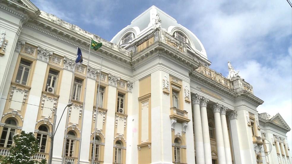Tribunal de Justiça de Pernambuco (TJPE) fica no centro do Recife (Foto: Reprodução/TV Globo)