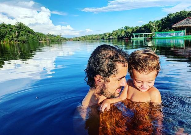 Viagem de Rafa Brites, Felipe Andreoli e Rocco à Amazônia (Foto: Reprodução/Instagram)