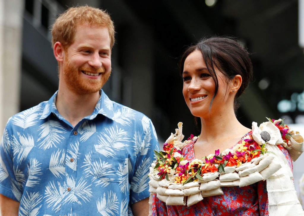 Príncipe Harry e Meghan Markle em Fiji (Foto: Getty Images)