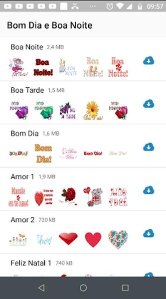 Stickers Bom Dia E Boa Noite Download Techtudo