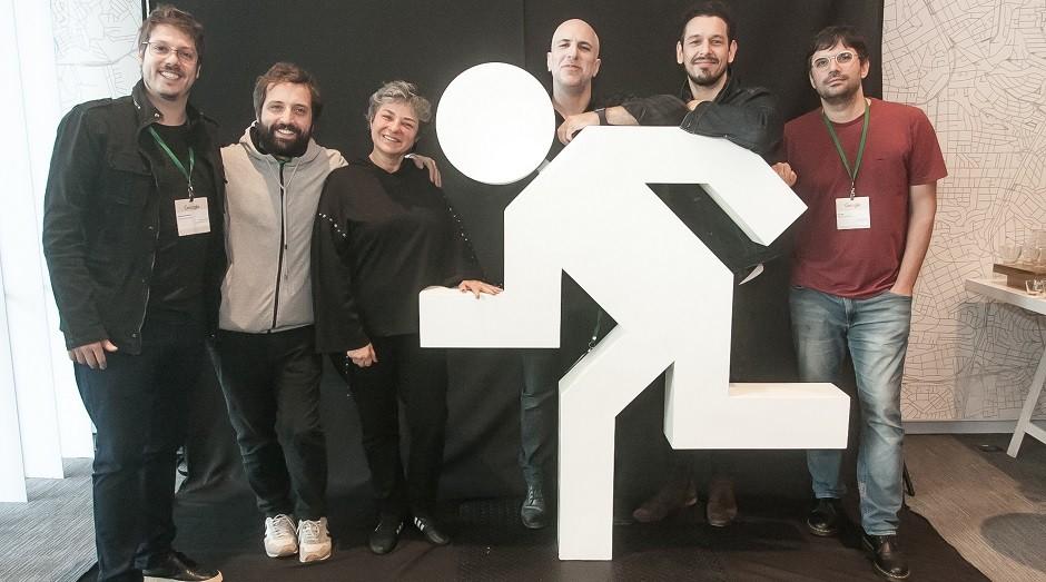Os sócios e a CEO do Porta dos Fundos durante evento no Google, em São Paulo (Foto: Divulgação)