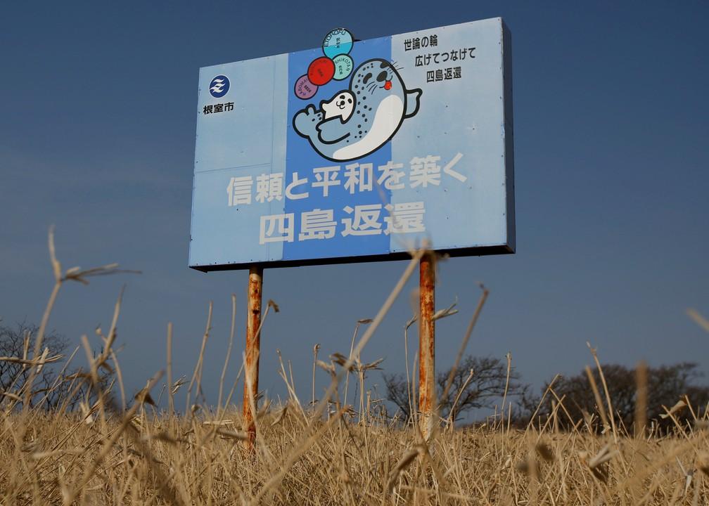 Outdoor japonês protesta pede que Rússia devolva ilhas Curilas — Foto: Issei Kato/File Photo/Reuters