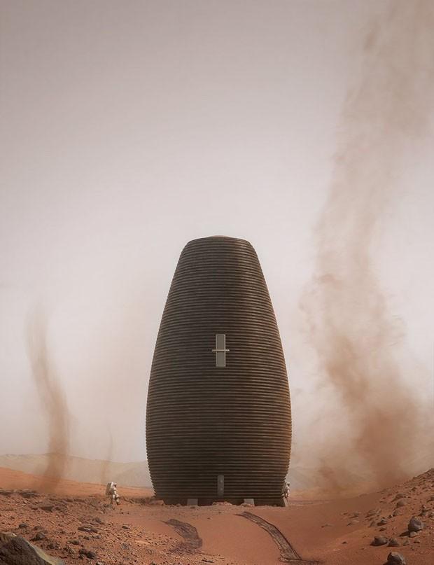 Escritório de arquitetura e tecnologia cria casas para marte (Foto: Divulgação)