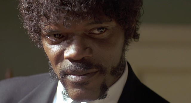 The result of the image of samuel l jackson in pulp fiction